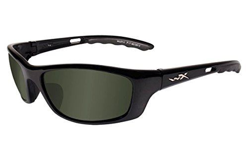 WILEY X P-17 Polarized Smoke Green Gloss Black Frame