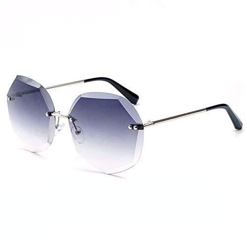 Sonnenbrillen Mode Die Sonnenbrille trimmen Weibliche Farbverlauf Ozean Farbe Sonnenbrille Joker Polygon Sonnenbrille Qualität Sonnenbrille Für Unisex Punk Stil Sonnenbrille Kleine Metallrahmen