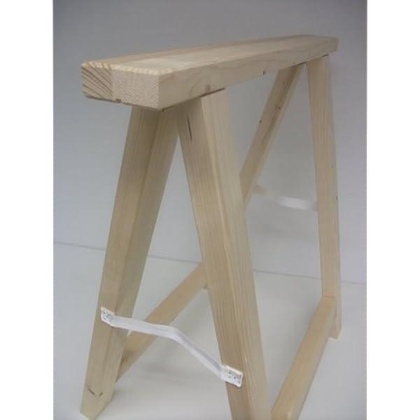 BawiTec Holzbock Bauschrage 100cm Breit x 70cm Hoch Werkstattbock Montagebock