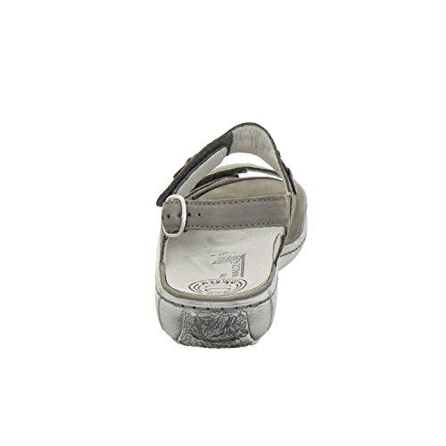 Waldläufer Damen Sandalette Garda 210004-191-088 Denver pietra grau pietra Weite G