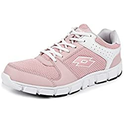 Lotto Women's Sancia White/ Nude Pink Running Shoes - 7 UK/India (41 EU)