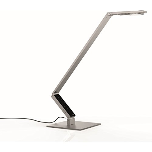 LUCTRA TABLE PRO LINEAR LED Tischleuchte mit Fuß 921523, Farbe: Aluminium