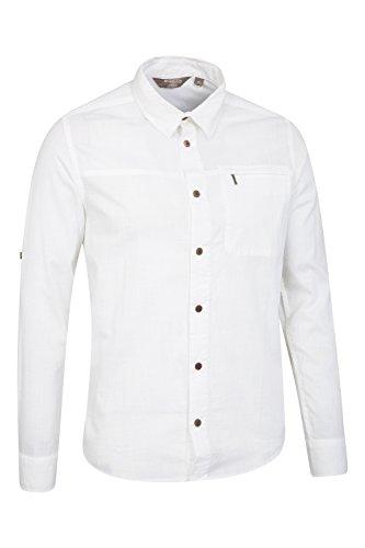 Mountain Warehouse Coconut Herren-Baumwollhemd Weiß