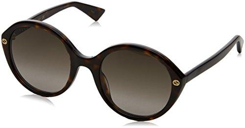 Gucci Damen GG0023S 002 Sonnenbrille, Braun (Avana/Brown), 55