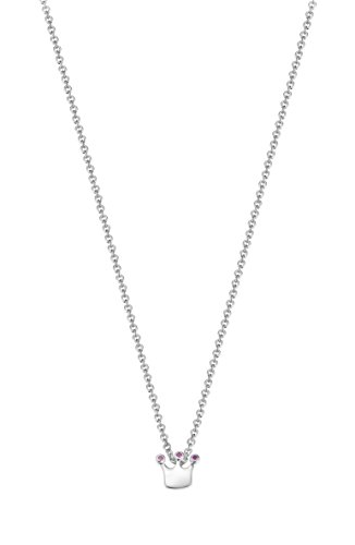 Esprit Kinder-Erbskette JW50259 925 Silber rhodiniert Zirkonia lila Rundschliff 34 cm - ESNL93391A340