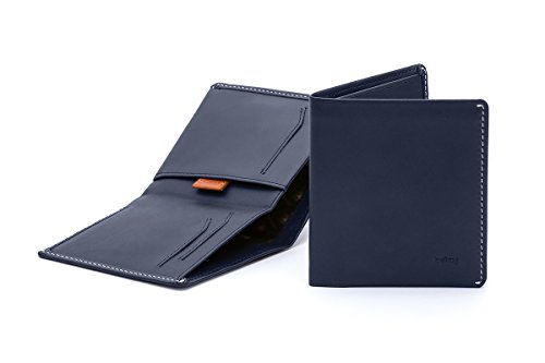 Bellroy Leather Note Sleeve Wallet Blue Steel