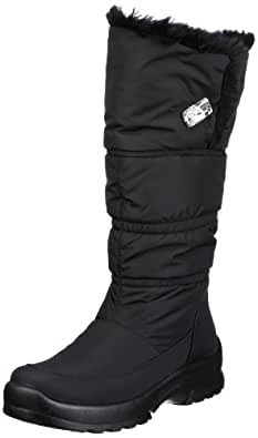 San Bernardo 02-6550-schw, Damen Snowboots, Schwarz (schwarz), EU 38