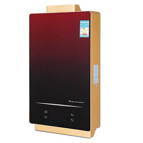 FlowerW 12L LPG Gas-Warmwasserbereiter mit Digitaler LCD-Warmwasserbereiter Automatische Konstante Temperatur(12L LPG) -