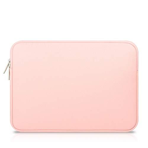 Preisvergleich Produktbild AREDOVL Laptop-Hülle 11, 6 Zoll 13, 3 Zoll Hülle Schutzhülle mit Tasche für MacBook Air Sleeve,  Laptoptasche 15, 6 Zoll Display (Color : Pink,  Size : 15.4inch)