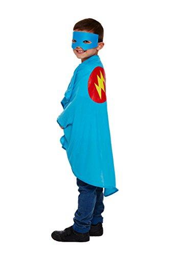 KOSTÜM KINDER SUPERHELD BLAU EINE (Blau Superhelden Kostüme)