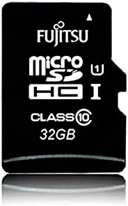 FUJITSU 32GB Micro SD card | Class 10 U1 SDHC Memory Card | ULTRA High Speed | With SD Adapter | 80MB/s Read S