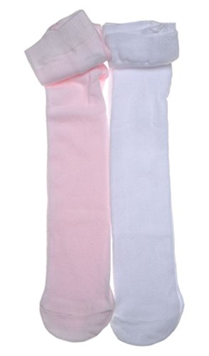 2-pairs-of-plain-white-pink-baby-tights