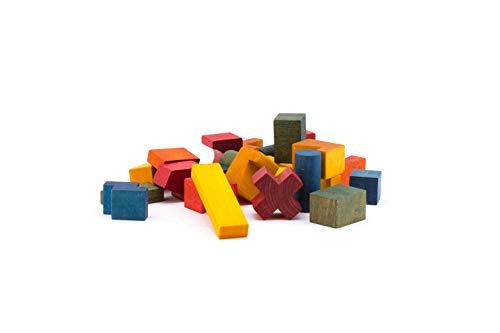 Wooden Story Rainbow Stapelspiel mit verschiedenen Formen aus Natur Holz in Regenbogen Farben zur Entwicklung und Förderung der Motorik - FSC -zertifiziertes Massivholz und Öko - zertifizierte Farben