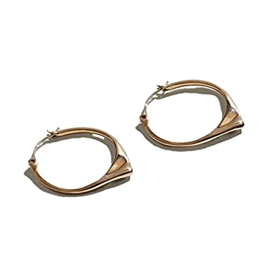 Pamela Love Women's Gold Plated Brass Kay Hoop Earrings
