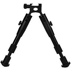 Rifle Stand - Tactics Hunting Picatinny Rail Mount Rifle ajustable Bipod Soporte de soporte Bípode de 6 pulgadas con adaptador para caza y acampada