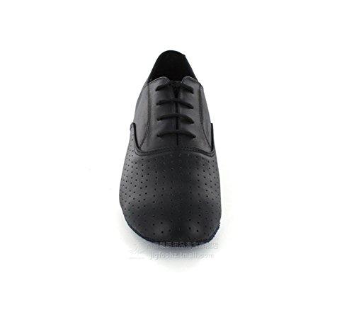 Chaussures Latines Mâles / Cuir Perforé Noir / Chaussures Pour Hommes Même Fond Mou / Confortable, Respirant A
