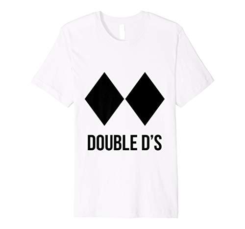 Ski Snowboard Piste Diamant Doppel D T-Shirt
