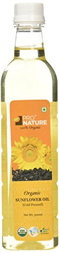 Pro Nature 100% Organic Sunflower Oil, 500ml