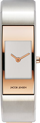 Jacob Jensen Womens Analogue Quartz Watch with Stainless Steel Strap Eclipse Item NO. 465