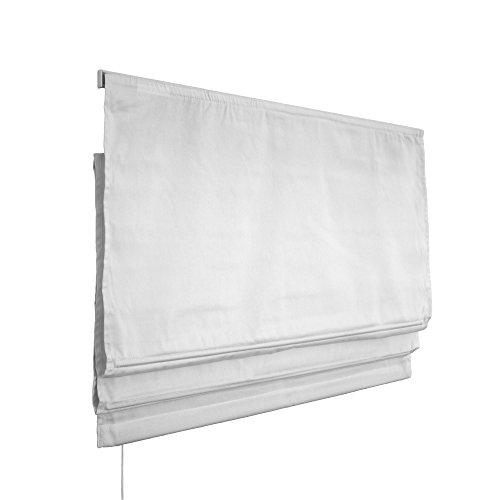 VICTORIA M Estor Plegable/Cortina Plegable paqueto - Klemmfix (fijación sin taladrar) 100 x 240cm, Blanco