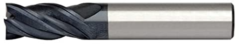 Alfa Tools HPSC60621AL 3/8X3/8 4 Flute Single End High Performance AlTiN Carbide End Mill Made In USA,