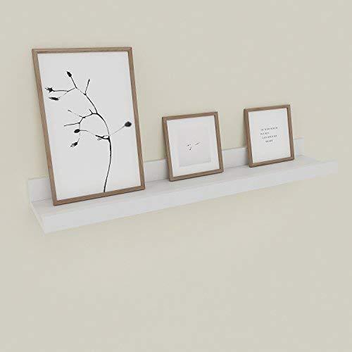 Simlive - Étagère murale moderne - 120cm - Tablette de rangement pour cadres photo et livres, Contreplaqué, White-60cm, 60 cm