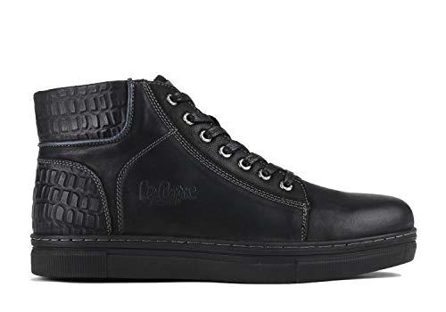 Lee Cooper Herren Sneaker High Top Schnürstiefeletten aus Leder LCJ-18-523-071A (42 EU, schwarz)