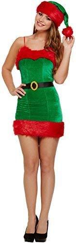 Fancy Me Damen Sexy Sexy Elfen Weihnachtsmann Helfer Süß Weihnachten Festlich Spaß Noel Kostüm Kleid Outfit