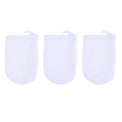 Frcolor 3 pcs Microfibre Visage Gants de Nettoyage Maquillage Remover Gants Réutilisable Serviettes de Tissu Facial pour Femmes