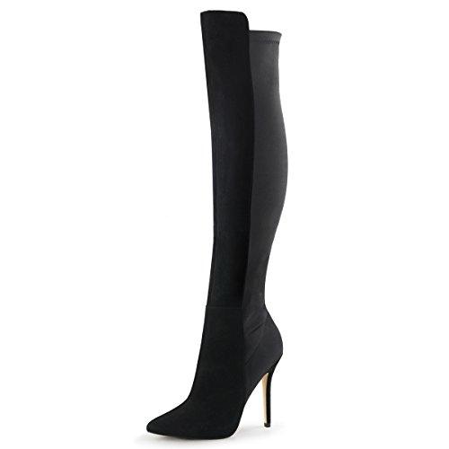 Higher-Heels Fabulicious Wildleder-Kniestiefel Boots Amuse-2018 schwarz Gr. 39