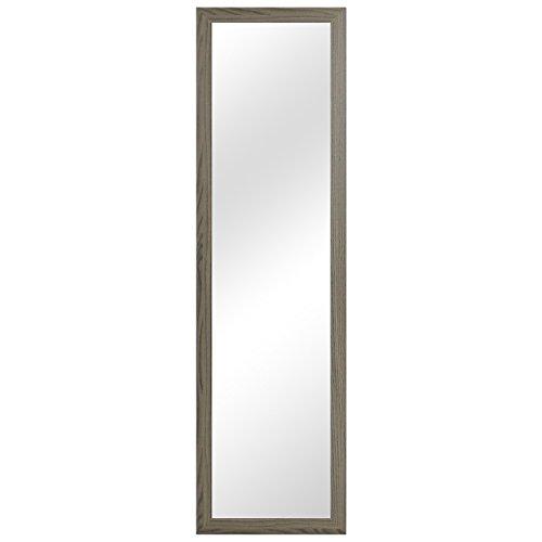 Garderobenspiegel Wandspiegel Frisierspiegel Flurspiegel Barspiegel 36,5x126,5cm - Braun