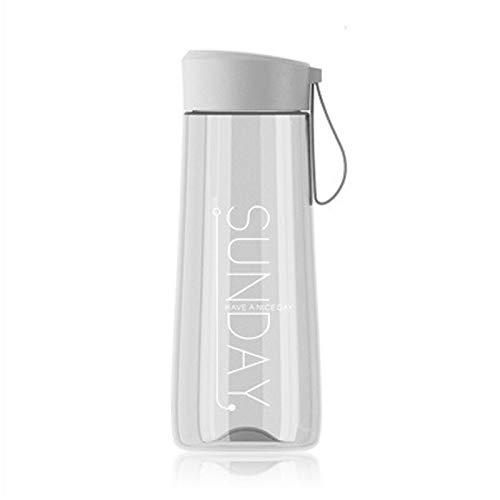 YXBB Reine Farbe wasserflasche Sport briefgestaltung Student Tasse Wasser einfache tragbare Paar Outdoor Flasche 500 ml 3