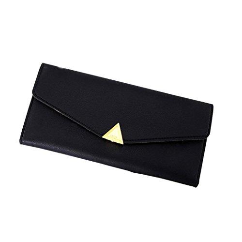 Portafoglio Donna, Tpulling Portafogli donna Portafoglio grande capacità carta tenere borse lunghe (Blue) Black