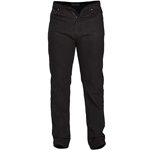 Rockford Herren Neue Stretch Denim Jeans Schwarz Regelmäßig Große Kingsize-Reißverschluss W46 - L30 - Avenue Stretch-jeans