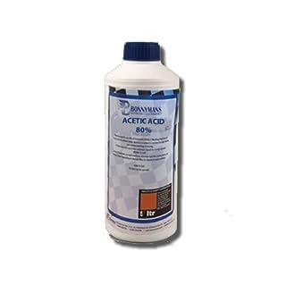 Acetic Acid 80% - Ethanoic Acid - 1 Litre