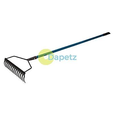 dapetz® Garten-Rechen–1400mm–Hand Werkzeug Griff aus Stahlrohr mit bequemen Griff