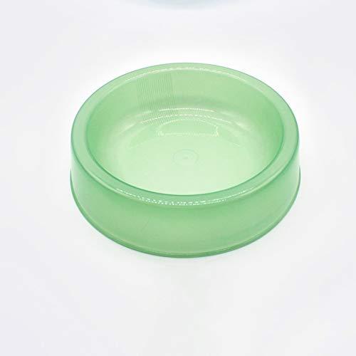 camellia Candy Kunststoff Pet Dog Bowl Anti Slip Futternapf Tiernahrung Container Fach Heimtierbedarf für Katzen Hunde (grün) -