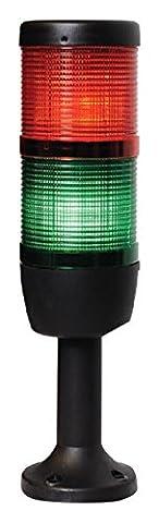 Emas A.S. IK72L024XM01Signal Continuous LED 24V Two Tier Column, Ø 70mm, 110mm, Plastic Foot