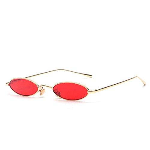 Volon Brille Retro Sonnenbrille Für Herren und Damen Oval Brillen Modenschau Aktivitäten im Freien Freizeit Wanderung Reise Weiß Gelb Rot Grau Dunkelgrün MEHRWEG