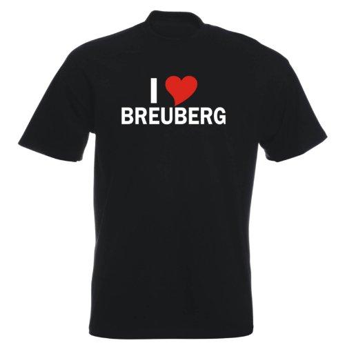T-Shirt mit Städtenamen - i Love Breuberg - Herren - unisex Schwarz