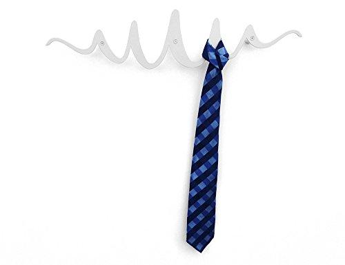 Headsprung - Porte-Manteau Mural patère Design métal Scribble Blanc
