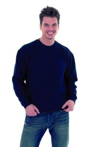 Uneek 300g Plain Classic Crewneck Sweatshirt -Navy - Large