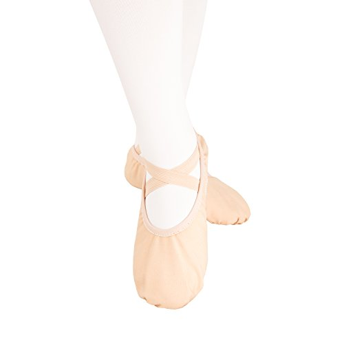 Ballettschuhe, weich, für Mädchen und Damen in verschiedenen Größen Rosa - hellrosa