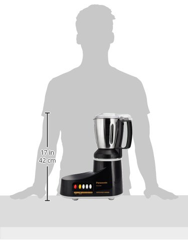 (CERTIFIED REFURBISHED) Panasonic MX-AC400 550-Watt Super Mixer Grinder with 4 Jars (Black)