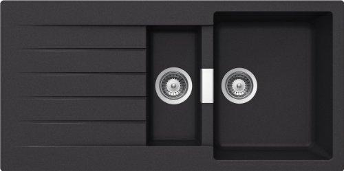 Preisvergleich Produktbild Schock Küchenspüle Primus D-150, Auflage in Nero