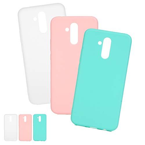 3 X Coques Huawei Mate 20 Lite, LaVibe Étui Gel Silicone TPU Bonbon Design Protecteur Housse Anti-Rayures Pare-Chocs Bumper Souple Ultra Slim Flexible Soft Case Cover - Pink Love