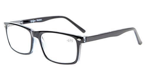 Eyekepper Lesebrille Mann-Frauen-stilvollen Look Crystal Vision Komfort Federscharniere schwarz +2.0