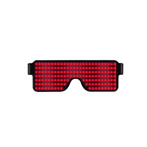 Henreal Brille mit LED-Licht, für Partys, Sonnenbrille, Weihnachten, Geburtstag, Dekoration Rot