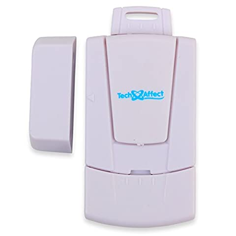 Window Alarm Door Open Alarms - With on/off key. Wireless Intruder Magnetic Contact Sensor. Loud Security burglary Alarm for Home, Garage, Shed, Caravan. Modern electronics theft detector system. Break in alert devices detect entry and guard against burglars. Battery Operated.