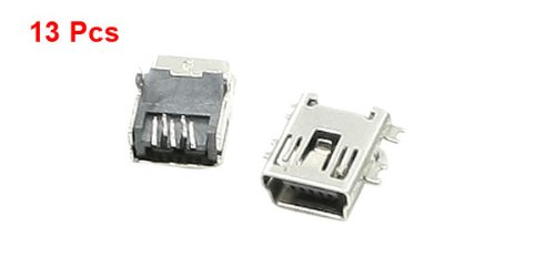sourcingmap® USB auf Mini B mehrere Arten HÄNGEREGAL 5 pin Buchse Klinke Anschlüsse 13 pcs - 2